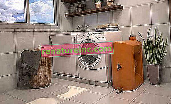 El kit de reutilización de agua de la lavadora es práctico y ahorra
