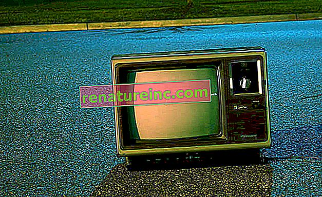 La télévision par tube est un problème au moment de la mise au rebut