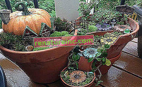 Brudte potter bliver dekorative genstande til haven