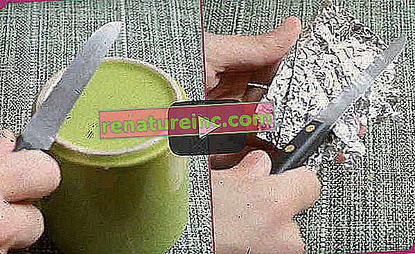 ¿Cómo afilar tijeras, cuchillo y alicates? Utilice papel de aluminio
