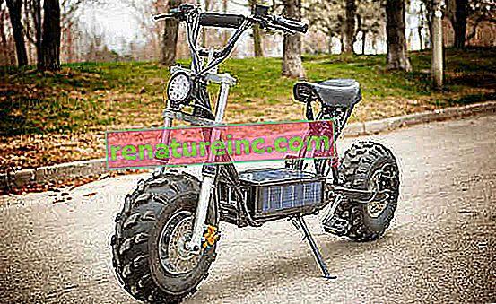 Звярът: прилича на мотоциклет, но е слънчев електрически мотор и офроуд