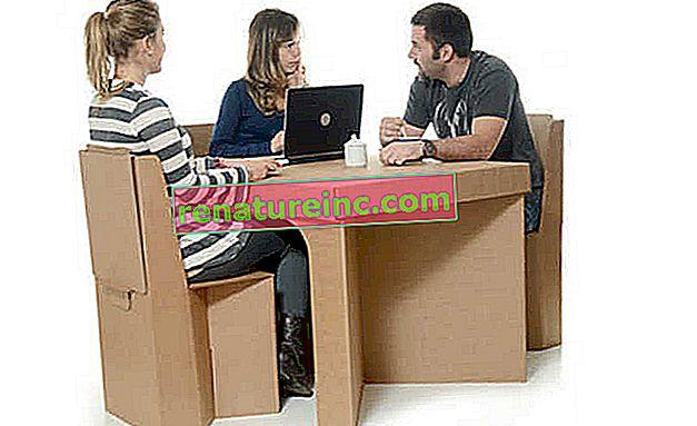Мебели от картон: леки, устойчиви и рециклируеми