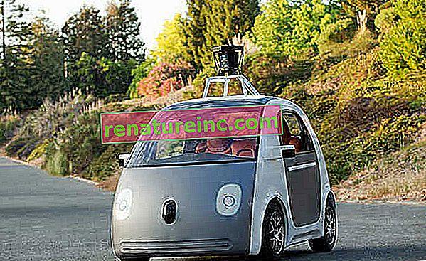Inteligentné auto navrhnuté spoločnosťou Google vydáva volant a sleduje trasy pomocou smartfónu