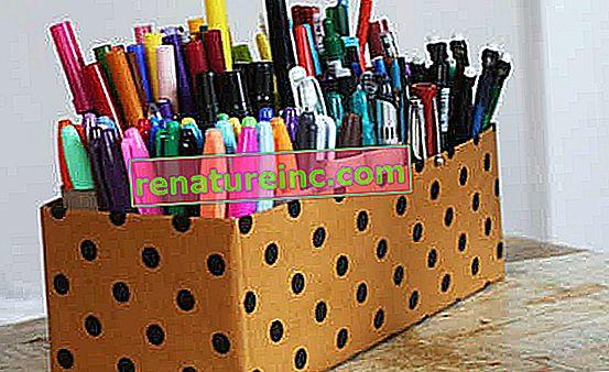 Направи си сам: държач за писалка с ролки тоалетна хартия и кутия за обувки