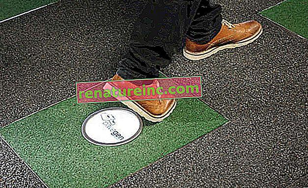 Britisk mann lager teppe som genererer elektrisk energi med fotspor