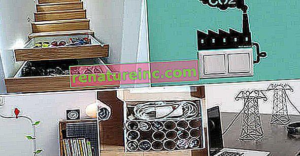 Gambiarra verte: réutilisez des objets pour cacher les parties en désordre de votre maison