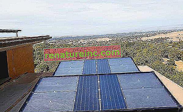 El panel utiliza energía solar para capturar la humedad y producir agua potable